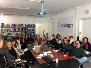 Springer Journal Editors supporting PEERE ideas (Milan, 5 November 2015)