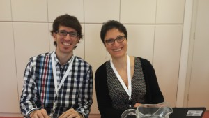 Bahar Mehnami (Elsevier) and Francisco Grimaldo (University of Valencia) collaborating in WG 2